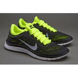 Nike free run 3.0v5 черные/лимон